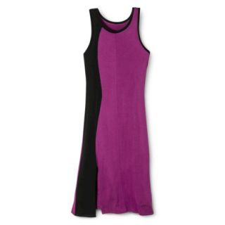 Mossimo Womens Colorblock Midi Dress   Grape/Black L