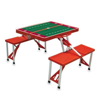 Folding Picnic Table With College Football Team Logo And Playing Field   811 00