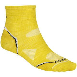 SmartWool PhD Multisport Mini Socks   Merino Wool (For Men)   GLOWGREEN (L )