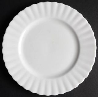 Royal Albert Reverie Dessert/Pie Plate, Fine China Dinnerware   All White
