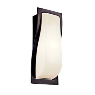 Kichler 11095AZ Outdoor Light, Soft Contemporary/Casual Lifestyle Sconce 1 Light Fluorescent Fixture Architectural Bronze
