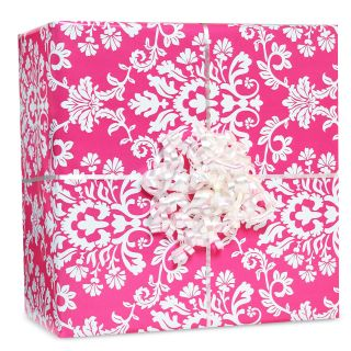 Bright Pink Brocade Gift Wrap Kit