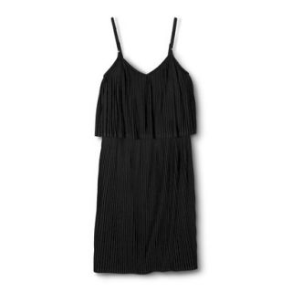 Mossimo Womens Pleated Knit Dress   Black M