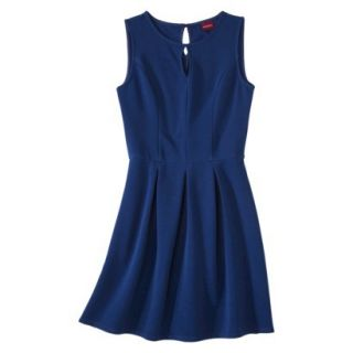 Merona Womens Textured Sleeveless Keyhole Neck Dress   Waterloo Blue   L