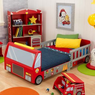 KidKraft Fire Truck Toddler Bed Multicolor   76021