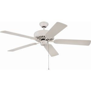 Ellington Fans ELF E52AW Pro 52 Ceiling Fan Motor only with Optional Light Kit