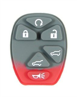 6 button GM Chevy, GMC, Cadillac SUV keyless entry remote pad buttons