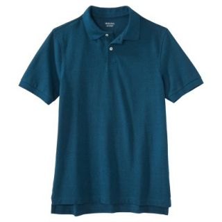 Mens Classic Fit Polo Shirt Atlantis blue turquoise XXL