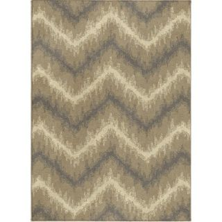 Threshold Chevron Ikat Fleece Area Rug   Beige (4x6)