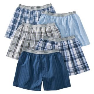 Fruit of the Loom Mens Elastic Waistband Boxers 5 Pack   Assorted Colors M