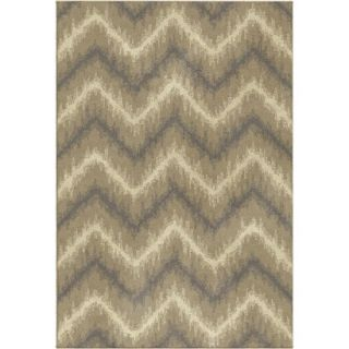 Threshold Chevron Ikat Fleece Area Rug   Beige (7x10)