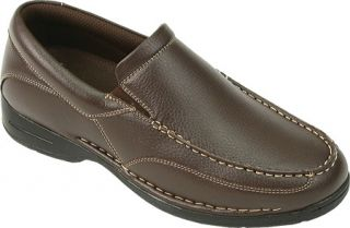 Mens Deer Stags Bound   Dark Brown Moc Toe Shoes