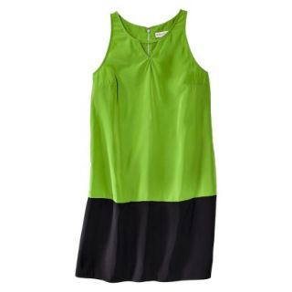 Merona Womens Colorblock Hem Shift Dress   Zuna Green/Black   18