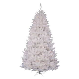 8.5 Pre Lit White Spruce Tree   Clear Lights