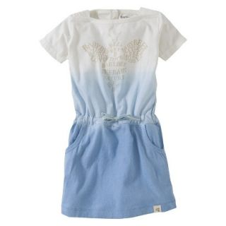 Burts Bees Baby Toddler Girls Dip Dyed Boatneck Dress   Blue 2T