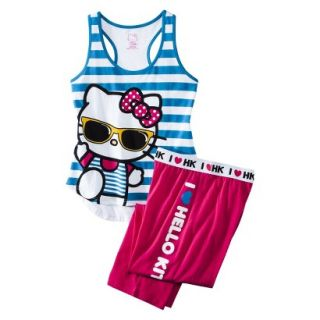 Hello Kitty Juniors PJ Set   Blue M(7 9)