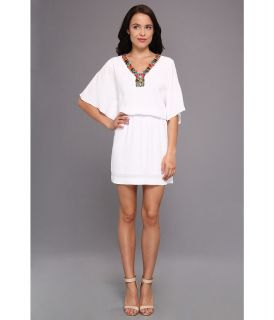 Nicole Miller Pebble Crepe Dress Womens Dress (White)