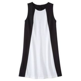 Mossimo Womens Colorblock Shift Dress   Black/Fresh White M
