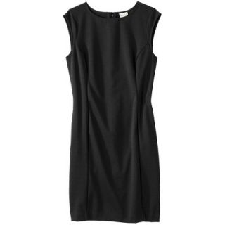 Merona Petites Sleeveless Ponte Sheath Dress   Black SP