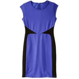 Mossimo Womens Colorblock Scuba Dress   Blue M