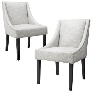 Dining Chair Griffin Nailhead Cutback Dining Chair Diamond   Set of 2