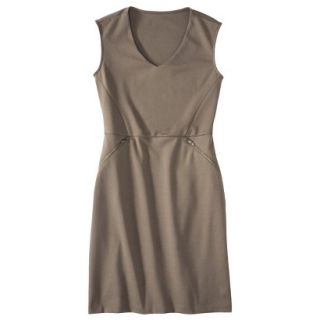 Mossimo Womens Ponte Sleeveless Dress w/ Zippered Pockets   Timber XL