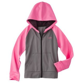 C9 by Champion Girls Tech Fleece Full Zip Hoodie   Hardware Gray S