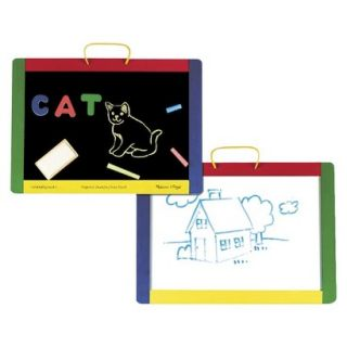 Melissa & Doug Magnetic Chalk and Dry Erase Board