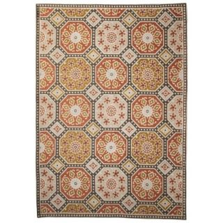Threshold Indoor/Outdoor Mosaic Area Rug   Red/Gold (4x6)