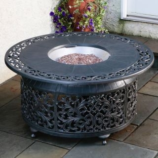 Bellagio Cast Aluminum Gas Fire Pit Multicolor   55 1306