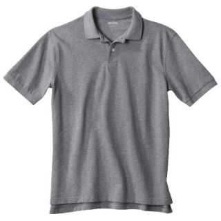 Mens Classic Fit Polo Shirt Heather Gray Grey LT