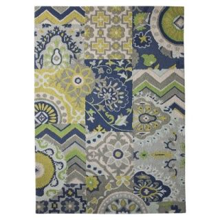 Threshold Patchwork Area Rug   Blue (5x7)