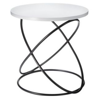Accent Table Nate Berkus Accent Table   White/Black