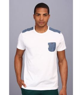 Ben Sherman Trim Woven Jersey Tee Mens T Shirt (White)
