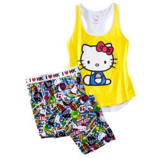 Hello Kitty Juniors PJ Set   Yellow L(11 13)