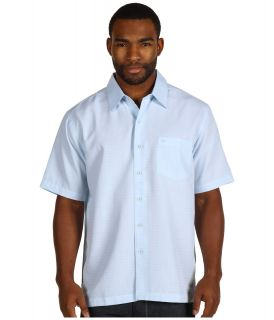 Quiksilver Waterman Collection Centinela Woven Shirt Mens Short Sleeve Button Up (Blue)