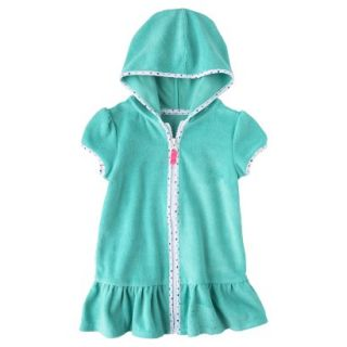 Circo Infant Toddler Girls Hooded Cover Up Dress   Turquoise 2T