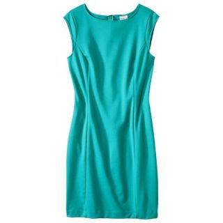 Merona Womens Ponte Sheath Dress   Coastal Green   S