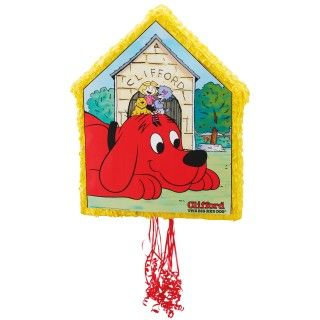Clifford The Big Red Dog Pull String Pinata