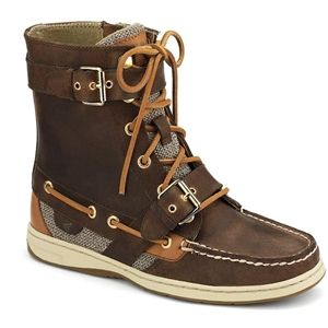 Sperry Top Sider Womens Huntley Brown Boots, Size 6.5 M   9289406