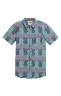 Mens Vans Shirts   Vans Rusden Pineapple Short Sleeve Woven Shirt