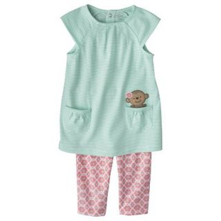 Just One YouMade by Carters Toddler Girls 2 Piece Set   Light Blue/Pink 2T