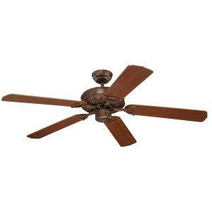Monte Carlo MON 5OR52TB Tuscan Bronze Ornate 52 5 Blade Mahogany Ceiling Fan