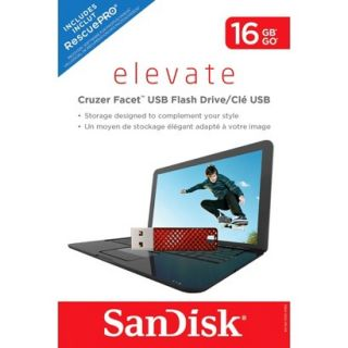 SanDisk Facet 16GB USB Flash Drive   Red (SDCZ55 016G T46R)