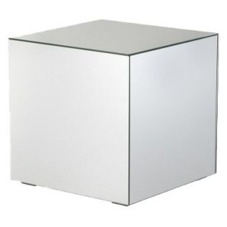 Accent Table Mirrored Cube Living Room Accent Side/End Table