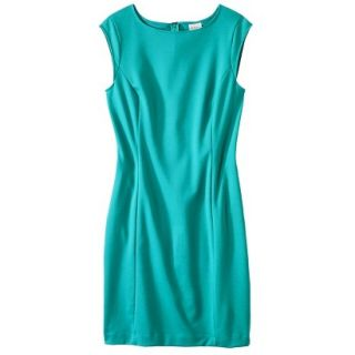 Merona Petites Sleeveless Ponte Sheath Dress   Coastal Green XSP