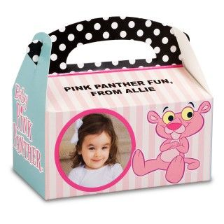 Baby Pink Panther Personalized Empty Favor Boxes