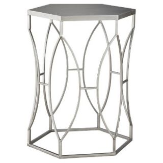 Accent Table Threshold Metal Accent Table   Silver