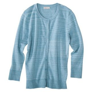 Merona Womens Ultimate 3/4 Sleeve Crew Neck Cardigan   Turquoise Heather   L