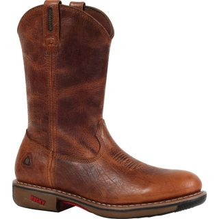 Rocky Ride 11In. Waterproof Western Boot   Palomino, Size 11, Model 4181
